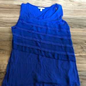 Women's blue banana republic tank top medium